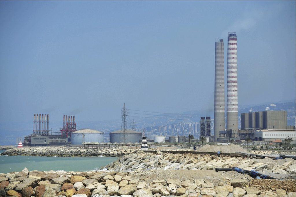 Wideshot of the two iconic Zouk powerplant structures in Lebanon. (Executive Magazine)