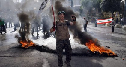 Lebanese veterans strike in opposition of the new austerity measures taken by the Lebanese political class. (People's Dispatch)