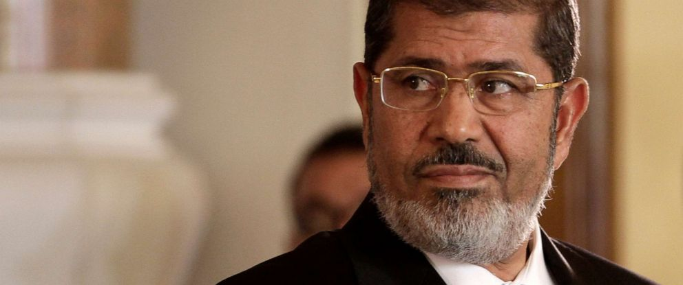 Morsi became Egypt's first democratically-elected president in 2012 before being ousted by the military the following year. (Maya Alleruzzo | AP)