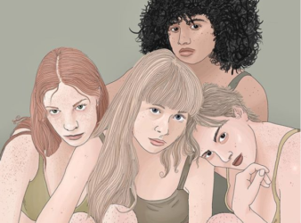 The work of Marlene Juliane, an illustrator based in Germany, often redefines femininity using nudity and body hair.