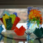Glass fusion designs by Nada Helou, the Lebanese artist. | Supplied