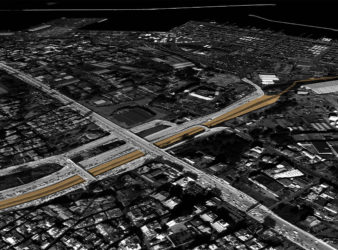 Render showing the Beirut River project site.