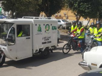 Live Love Recycle truck and drivers on the streets. (Lebanon Traveller)
