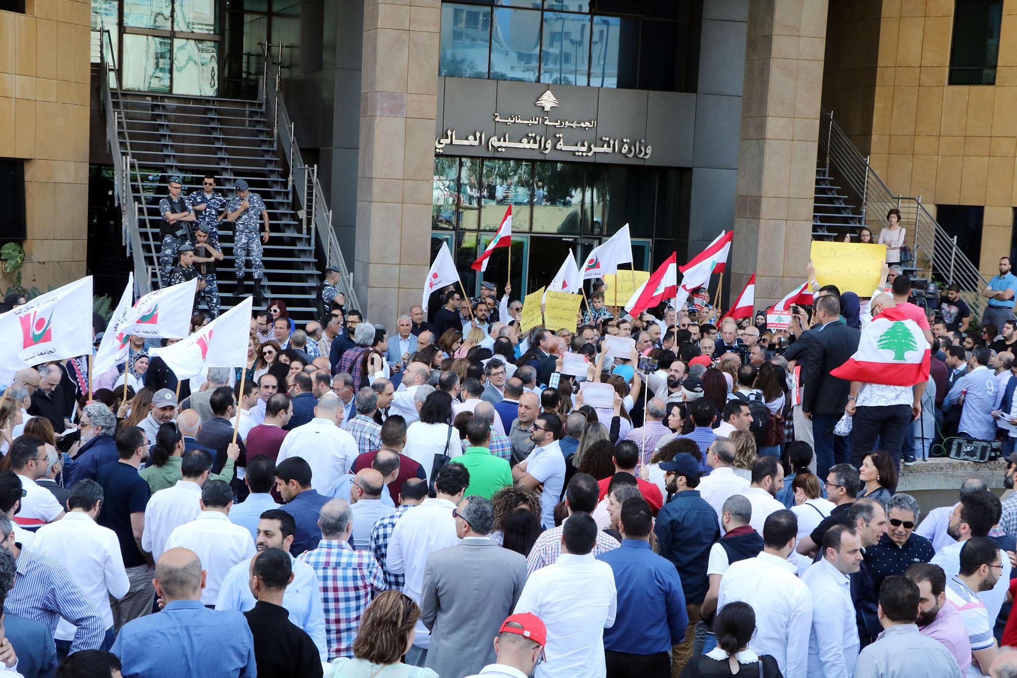 Lebanese University strike
