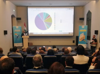 The Gherbal Initiative conference on September 27 at the National Library in Sanayeh. (Sandra Abdelbaki)