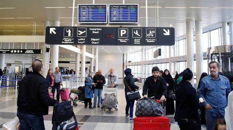 Passengers before going through security checks at Beirut's airport. (AFP/Alarabiya)