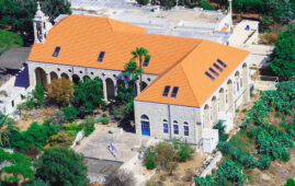 The historic Saint-Michel Hospital of Amchit, which has been turned into a quarantine space for people who test positive for COVID-19 but do not require medical intervention. (Photo: Garo Kahwajian & Chadi Fares Karam)