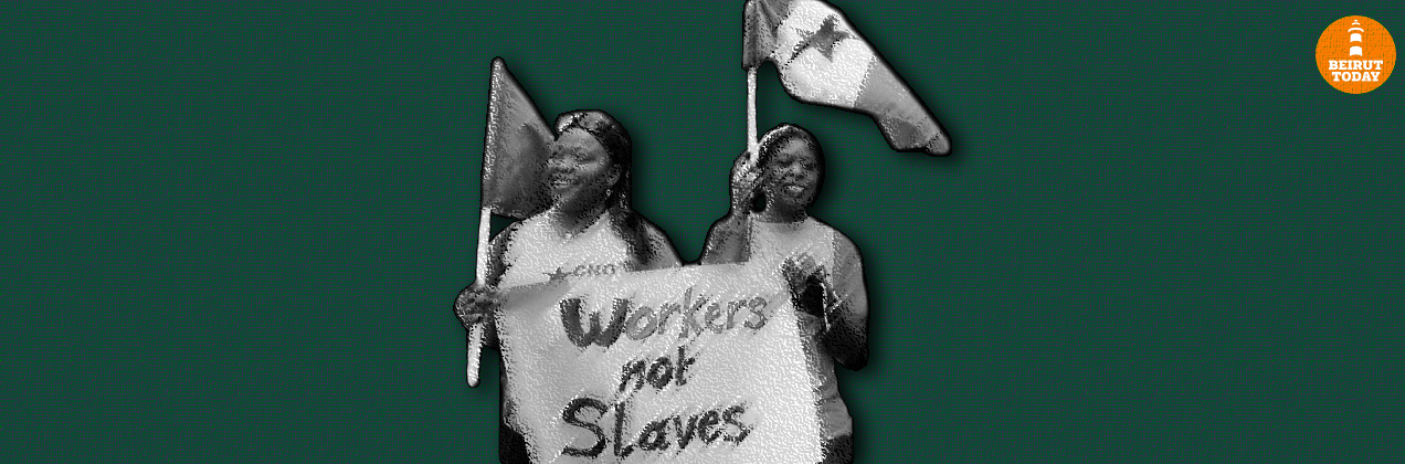 Migrant workers article main header, green background (Original photo taken from The Daily Star / Mohammad Azakir)