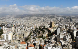 Drone shot of Beirut \ Rent crisis article