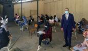 رئيس الجامعة اللبنانية فؤاد أيوب في كلية العلوم 4 (Photo: LebaneseUni via Twitter@)